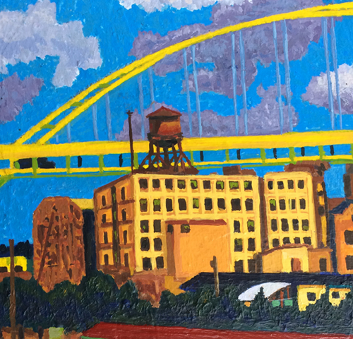 Centennial Mills Building and Freemont Bridge